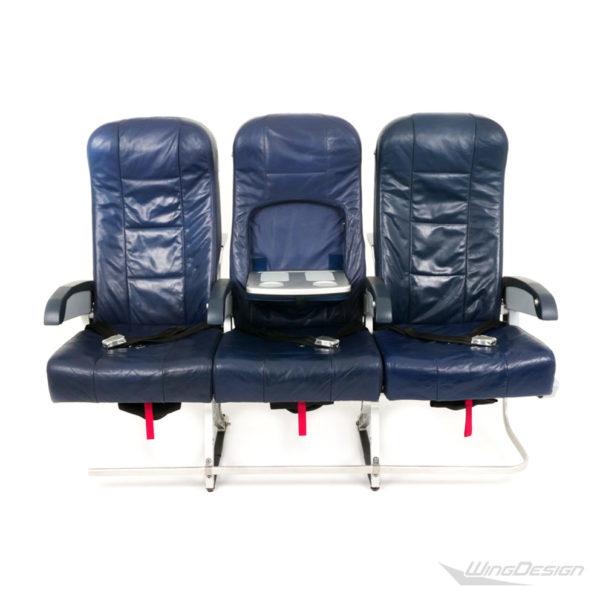 Flugzeugsitz Dreierbank SP-011192 Economy Class- dunkelblaue Lederbezüge