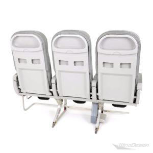 Flugzeugsitz Dreierbank C5-Slim Rückseite