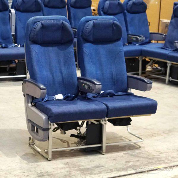 Flugzeugsitz Doppelsitz mit Stoffbezug