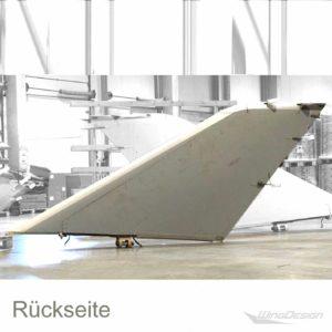 Winglet Tragflächenteil einr Beoing 747 gestreift Rückseite