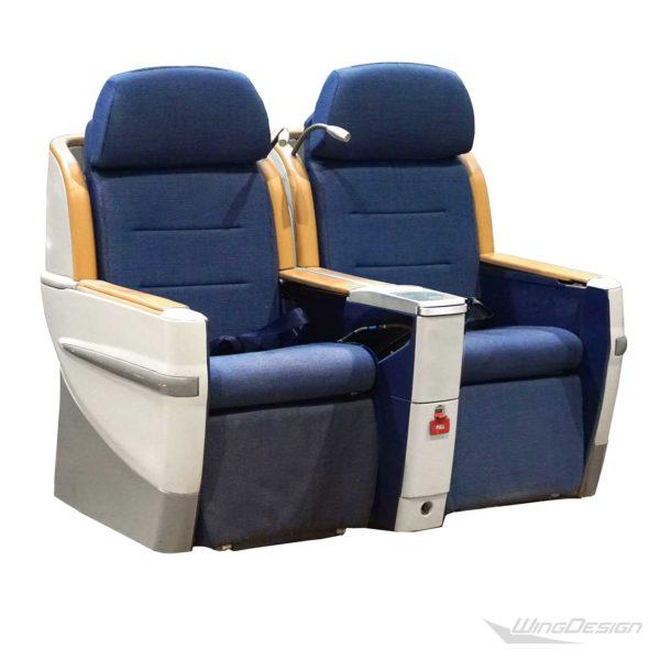 Flugzeugsitz BusinessClass Doppelbank Contour kurze Version