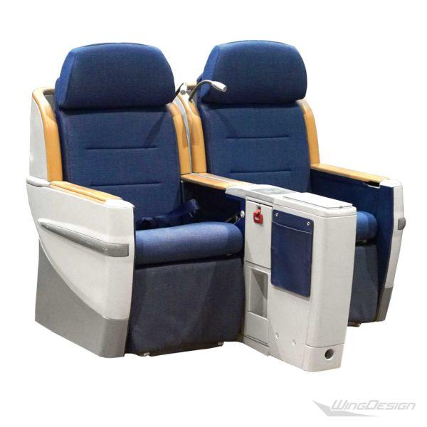 Flugzeugsitz BusinessClass Doppelbank Contour lange Version