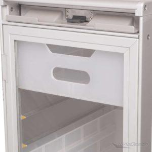 Flugzeugtrolley neu weiss mit transparenter Tür Beispielkonfiguration