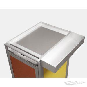 Ablagefach Sidebox an einem Flugzeugtrolleys