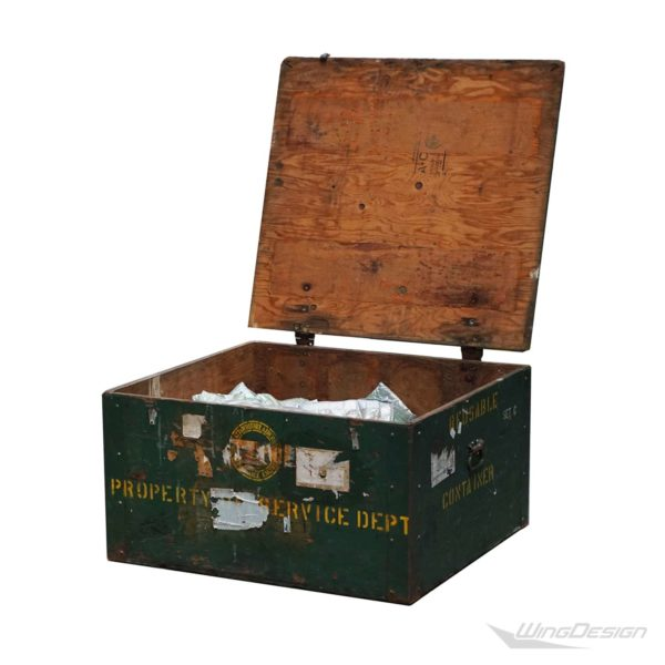 Aviation reusable container Holzbox offen