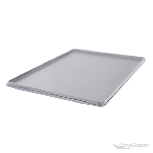 Fabrikneues Kunststofftablett grau