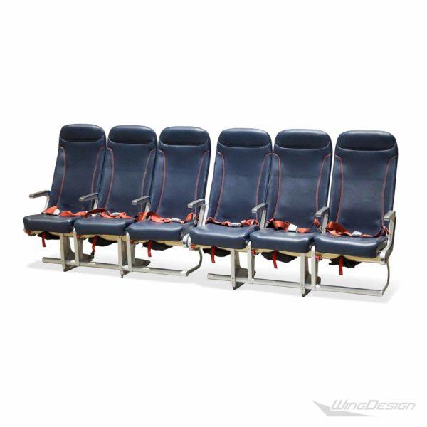 Flugzeugsitz Dreierbank Reihe 6 Sitzplätze