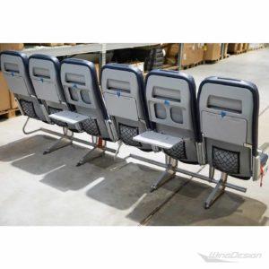 Flugzeugsitz Dreierbank 6er Reihe