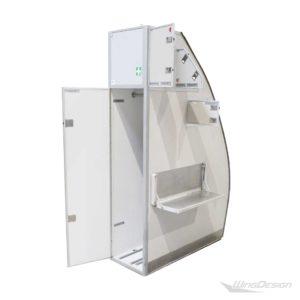 Airbus Stowage-Compartment geöffnet