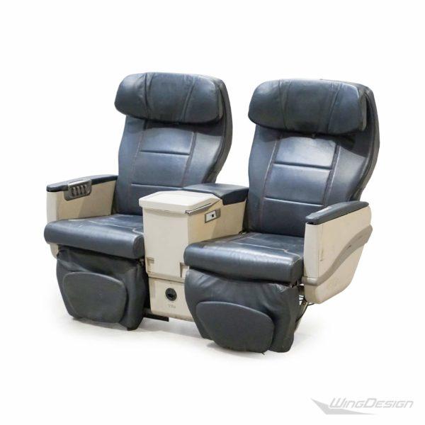 Flugzeugsitz Doppelsitzbank BusinessClass Leder schwarz