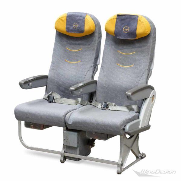 Flugzeugsitz Lufthansa Stoffbezuege