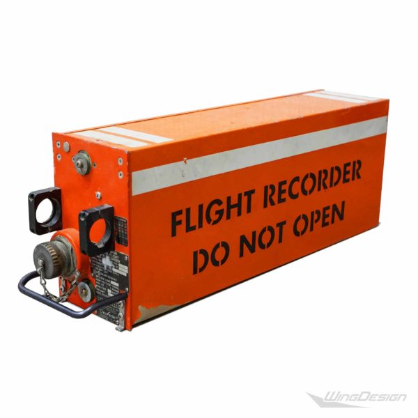 Flugzeugteile Flugschreiber Black Box Ansicht