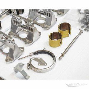 Flugzeugteile Set aus gebrauchten Kleinteilen - Details
