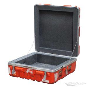 Transportkoffer Case rot offen