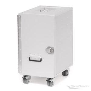 Trolley Alu Bord Box L mit Rollen
