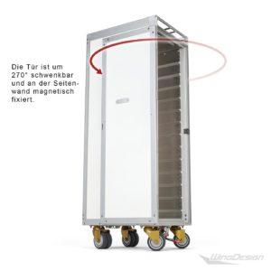 Wingdesign Flugzeugtrolley neu weiss - schwenkbare Tür